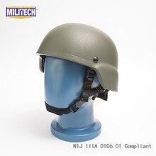 MILITECH OD NIJ IIIA 3A MICH Bullet Proofหมวกกันน็อกAramid ACH Ballisticหมวกกันน็อกBulletproof Mitch 2000หมวกกันน็อกTest Report