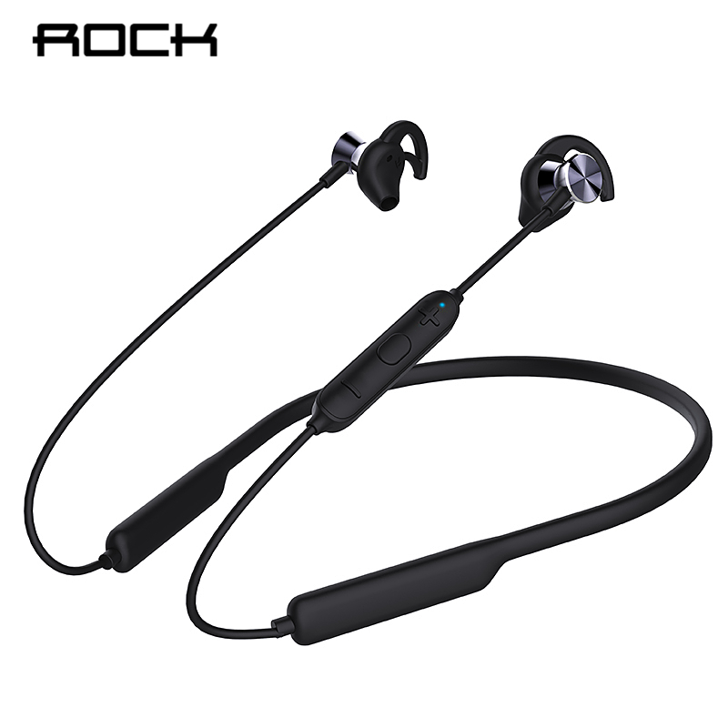ROCK Bluetooth 5.0 Wireless Headphone Magnetic Headset Neckband Sport Running Stereo With Mic Noise Cancelling Music Earbuds