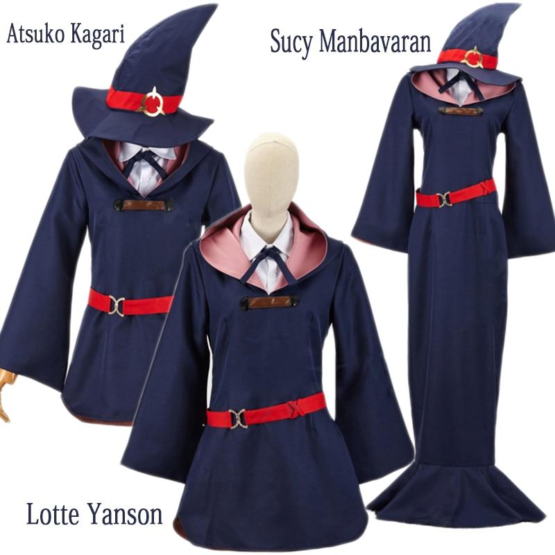 Little Witch Academia Akko Kagari Lotte Yanson Cosplay Costume Dress New