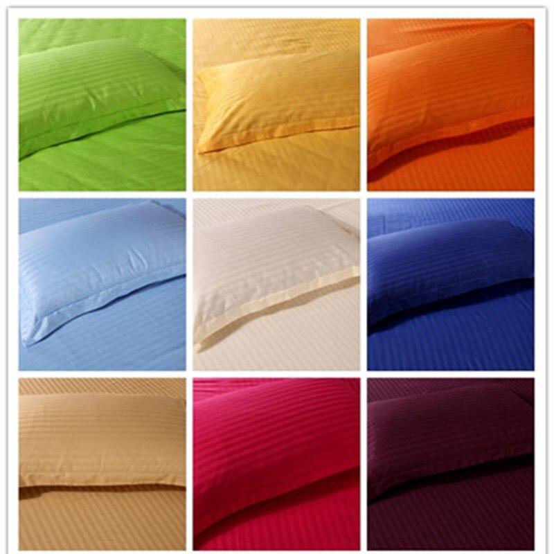 2 stücke Premium Satin Streifen Verschlüsselung Stoff Kissen Fall 100% Baumwolle 50*70 cm & 65*65 cm mehr spezifikationen