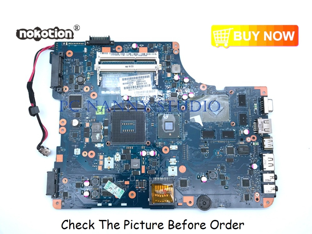 PCNANNY for Toshiba Satellite L500 L505 Motherboard K000092530 NSWAA LA-5322P  Motherboard HM55 DDR3 tested