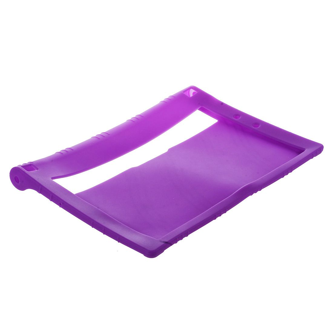 Galleria fotografica TPU Silicone Gel Rubber Case Cover For 10.1'' inch Lenovo Yoga Tablet 2 1050F PURPLE