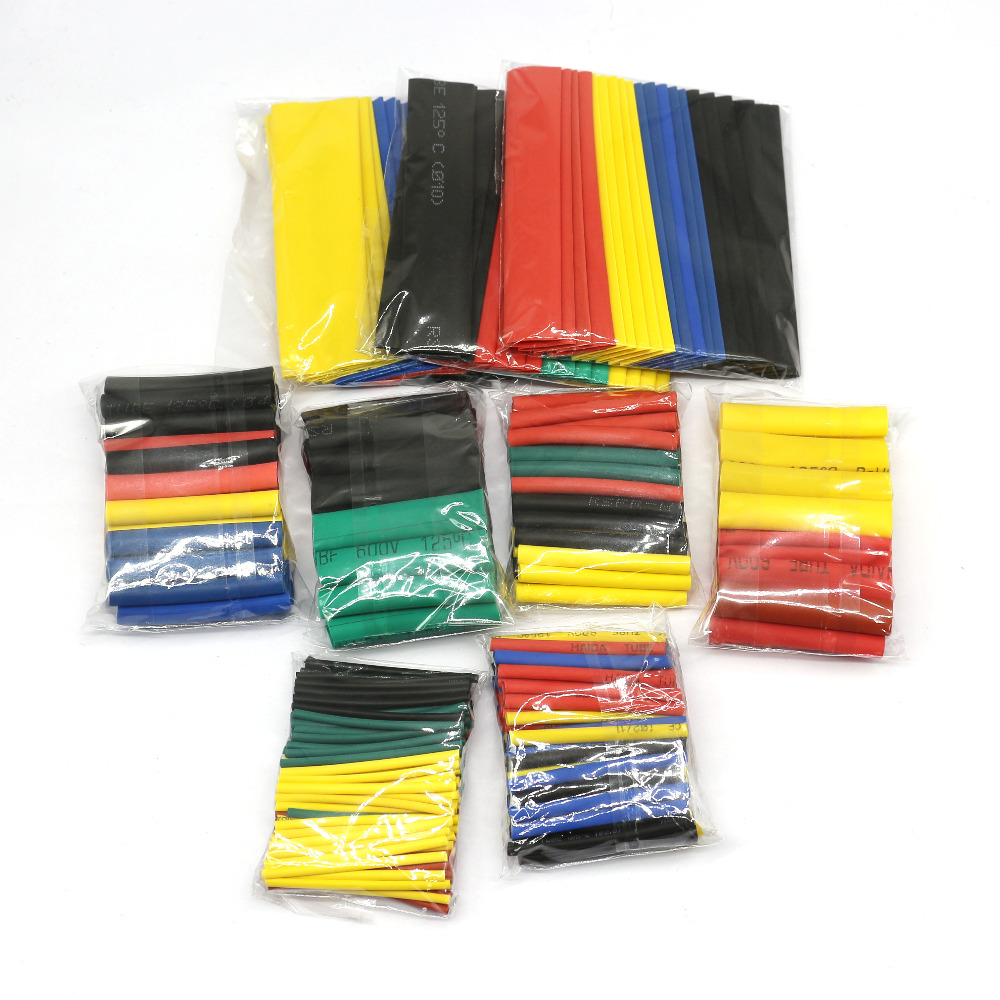 8 size multicolor / black 127 color 328 / 530Pcs various polyolefin heat shrinkable tube cable casing covered wire sheath DIY8 size multicolor / black 127 color 328 / 530Pcs various polyolefin heat shrinkable tube cable casing covered wire sheath DIY