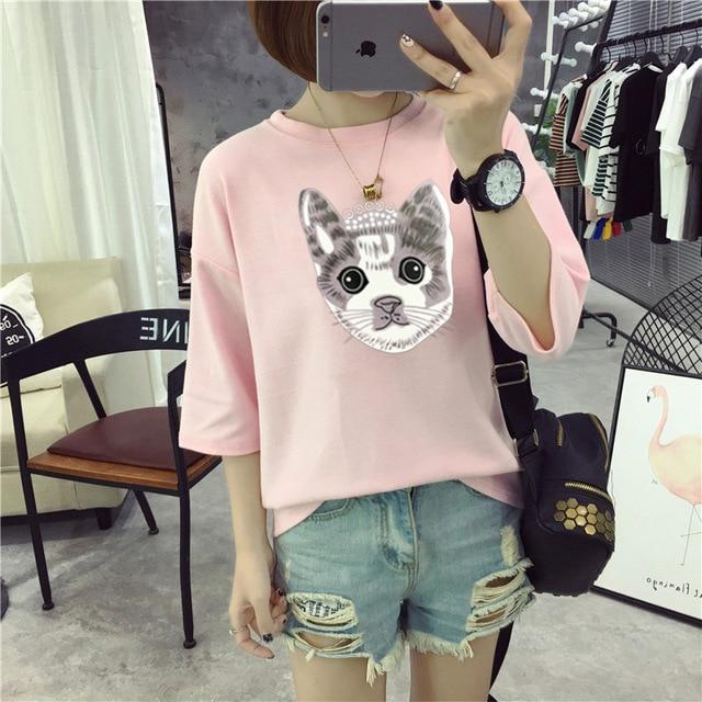 M22  T Shirt Women Cotton Elastic Basic T-shirts Female Casual   P30 3
