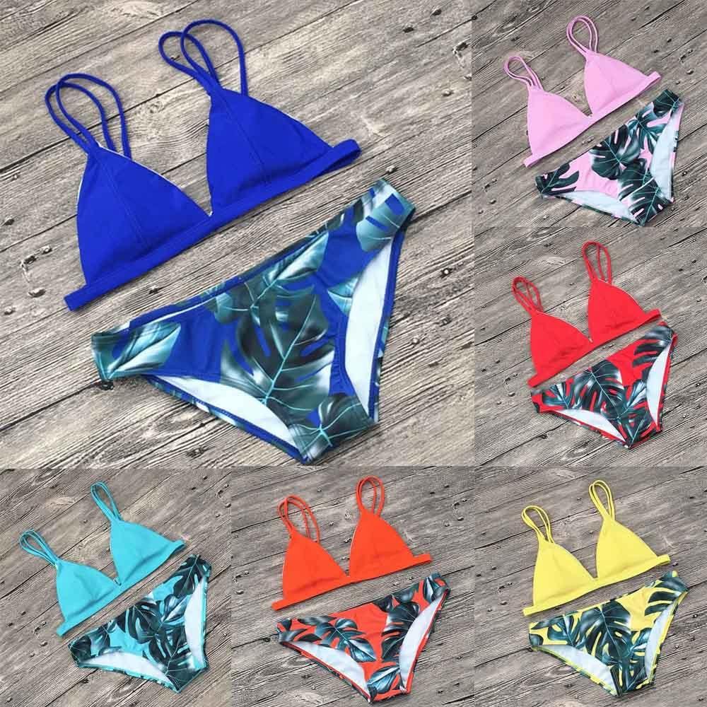 * Vendita Calda Nuovi Arrivi Bikini Delle Donne Del Bikini Delle Donne Set Sexy Foglie Per La Corda Costume Da Bagno Push-up Vestiti Di Costumi Da Bagno/ 0.75