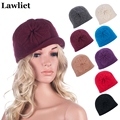 Women Winter Hats Beanies Female Cloche Wool Cap Bucket Floral Warm Hats for Women Bonnet Femme Skullies Beanies Female Cap A289