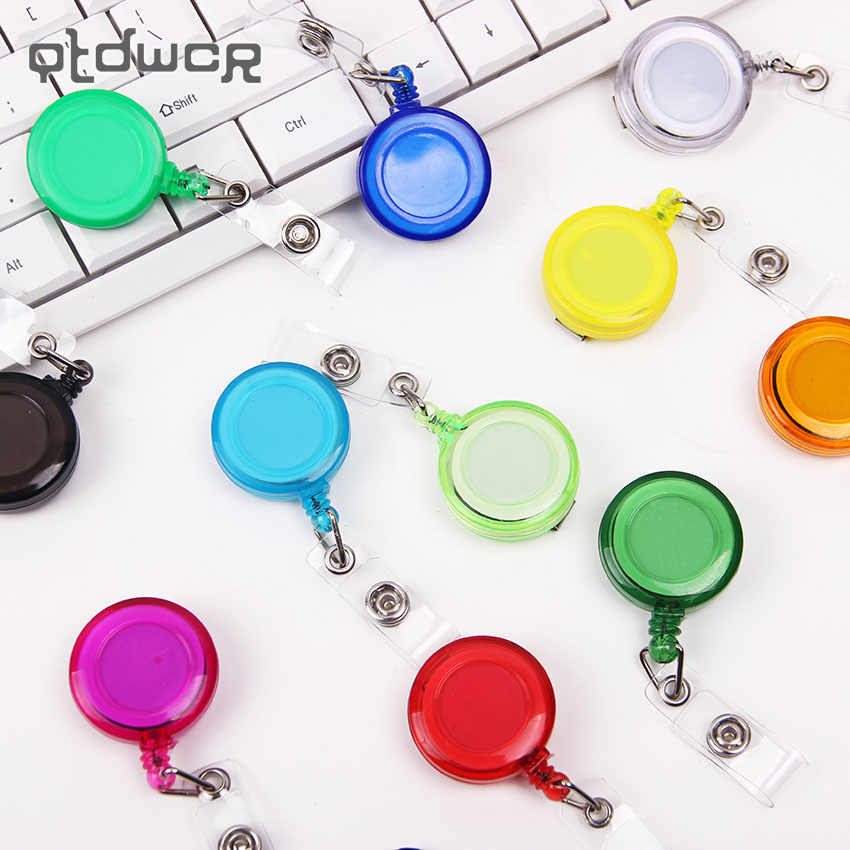 1PC 13 Colors Office School Supplies Badge Holder Retractable Ski Pass ID Card Badge Name Tag Holders Anti Lost Clip