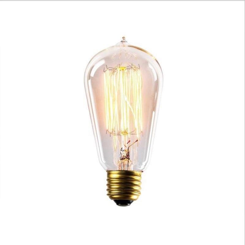 Incandescent Bulbs Hot Sale Retro Vintage Edison Bulb E27 40w /60w 110v/220v Ampoule Vintage Bulb Edison Lamp Filament Incandescent Light Bulb Led To Adopt Advanced Technology Light Bulbs