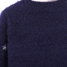 Casual Women Mohair Sweater Christmas Deer Print
