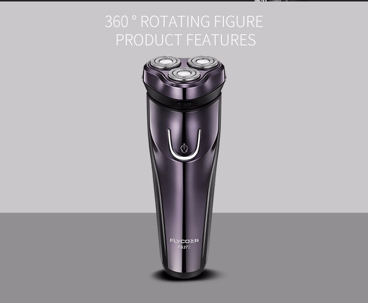 FLyco Professional Body Washable Electric Shaver for Men lasting 45 Minutes Rechargeable Electric razor 3D Floating HeadS FS372 9