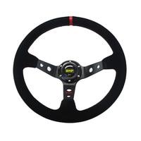 14inch 350mm Omp Deep Corn Drifting Suede Leather Steering Wheel Universal Car Auto Racing Steering Wheels