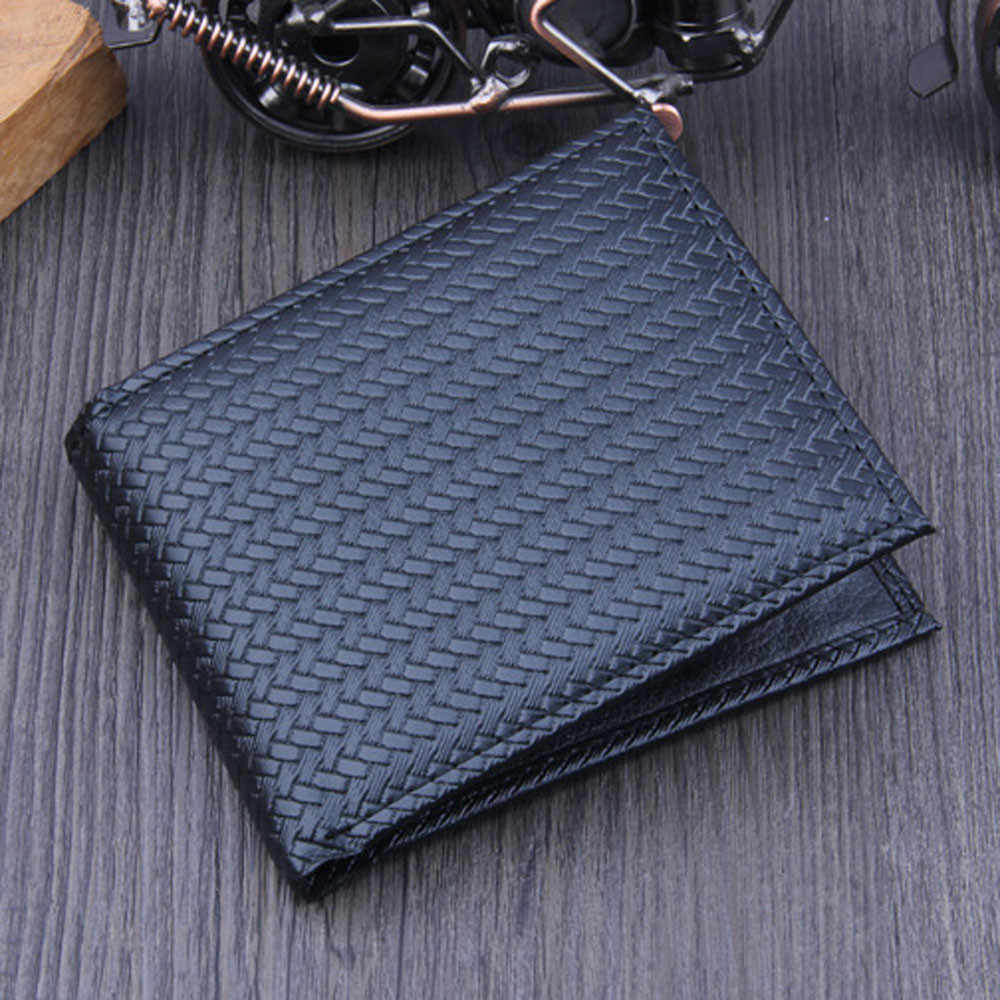 Men Bifold Business Leather Wallet  ID Credit Card Holder Purse Pockets credit card holder 2018 New Fashion tarjetero L*5