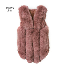 Real Fox fox fur vest luxury natural winter warm ladies fashion real H23