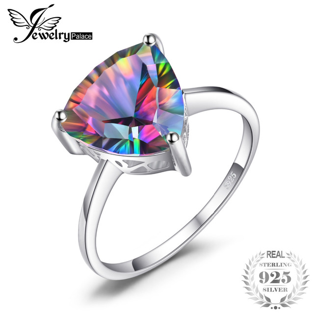genuine wesupplies fashion accessory gem women products ring silver pure rings jewelry sterling cocktail fire rainbow luxury jewellery stone topaz solid shipping concave free mystic