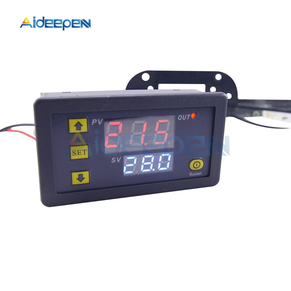 W3230 AC 110V 220V DC12V 24V Digital Thermostat Temperature Controller Regulator Heating Cooling Control Instruments LED W3230 AC 110V-220V DC12V 24V Digital Thermostat Temperature Controller Regulator Heating Cooling Control Instruments LED Display