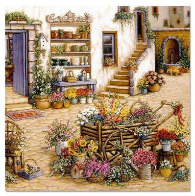 14/16/18/27/28 Top Quality Beautiful Lovely Counted Cross Stitch Kit Flowers Door
