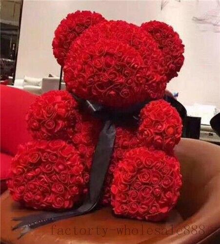 2019 riesen riesige große teddybär rose blume bär spielzeug Geburtstag hochzeit geschenk 70cm nette plüsch geburtstag Plüsch/ nano Puppe Unisex - 3