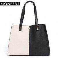 MONFERE Luxury Brand Designer Bucket Bag Women Pu Leather Color Shoulder Bag Handbag Large Capacity Crossbody