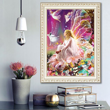 Elegant Fairy 5D Diamond Painting Full Resin Elf Girl DIY Embroidery Stitch Home Decoration Maison