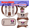 Mickey MOUSE Car Sedan Supplies Barrowload Accessories Car Accessories Decoration Set Decoration Handbrake Cover Safety Belt