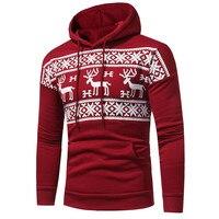 Christmas Deer Sweatshirts 2017 Men S Christmas Long Sleeve Slim Fit Cotton Male Hoodies Jumper Pullover