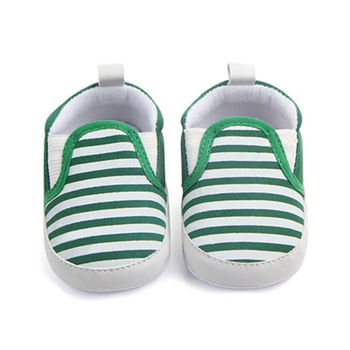 2017 Brand New Pram Newborn Toddler Baby Girls Boys Kids Infant First Walkers Striped Classic Shoes Loafers Casual Soft Shoes 1