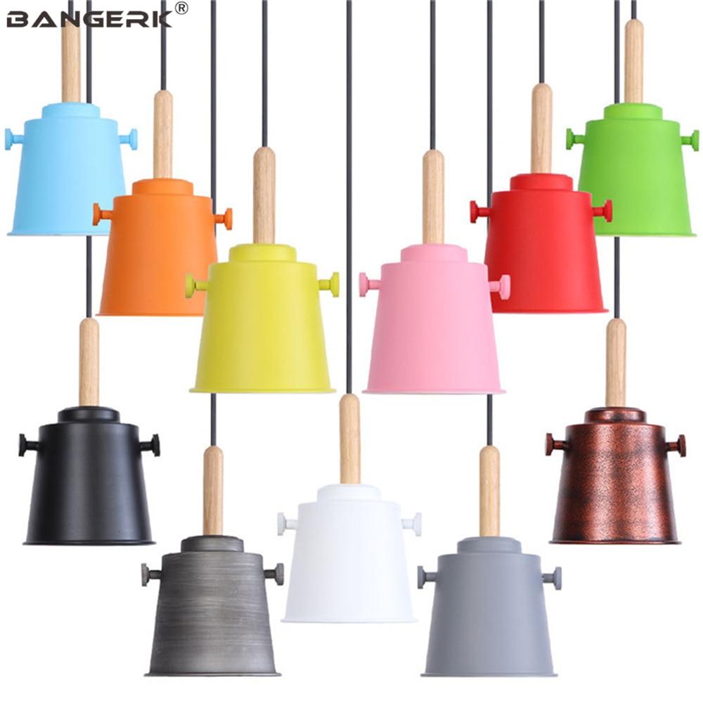Nordic Design Art LED Pendant Light Modern Loft Lamp Home Decor Dinning Room Bar Hanging Lighting Indoor Iron Wood Fixtures