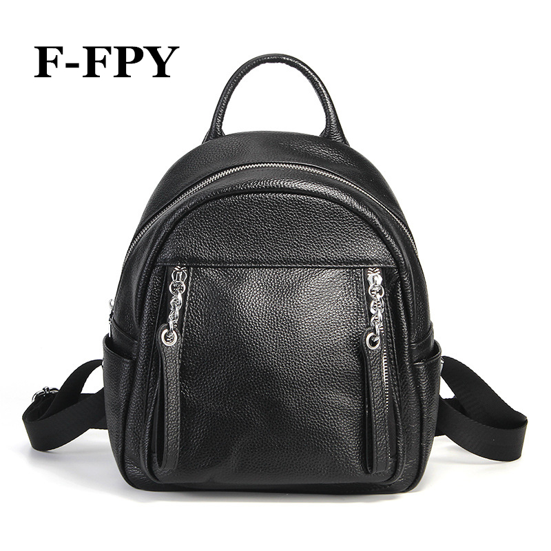 Famous Brand Women Backpack Fashion Design Black Female Shoulder Bag Casual Travel Bag Students School Bag Genuine Leather Bolsa vintage designer women backpack genuine leather bag famous brand cow leather women shoulder bag casual female backpack