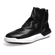 real leather leisure shoes winter Riding boots male short boots all-match cowhide cashmere breathable sneaker boots men casual цены онлайн