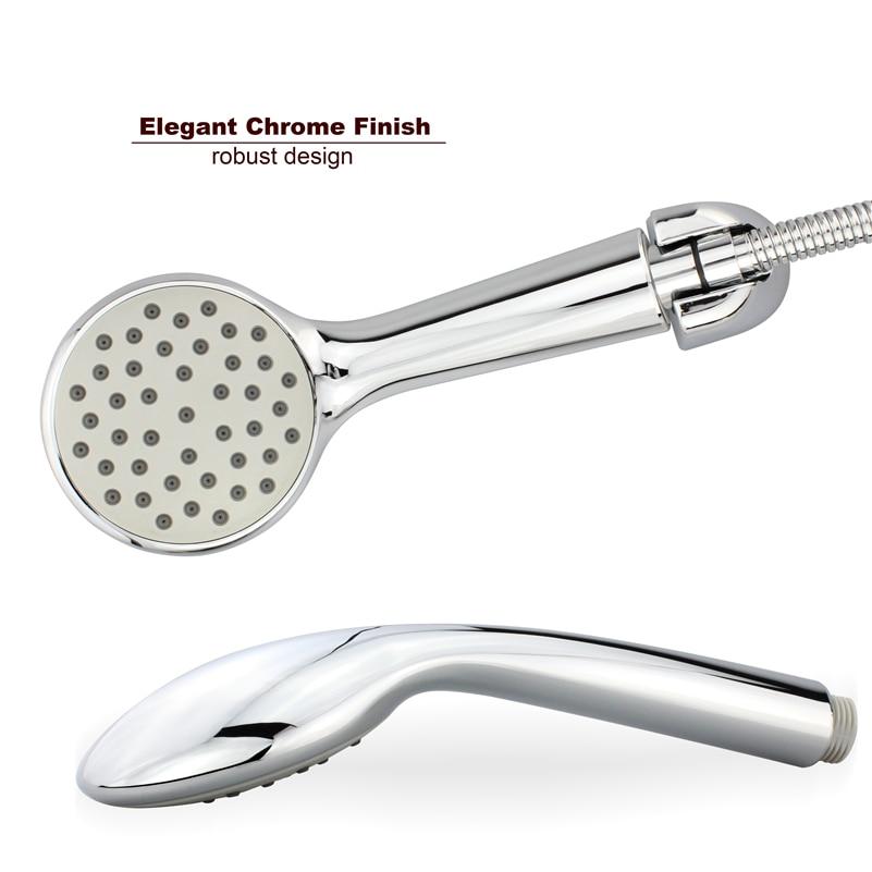 ABS Round Handheld Rainfall Shower Head water Saving High Pressure Chrome Plating hsh0014b