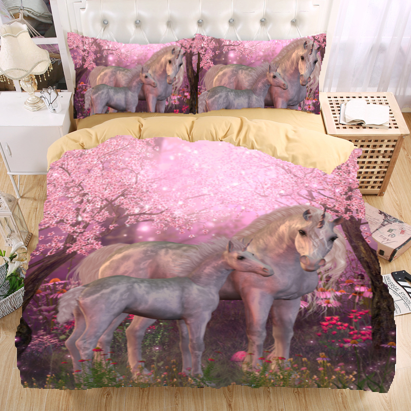 Unicorn 3D Bedding Set Monocerus Print Duvet cover set ...