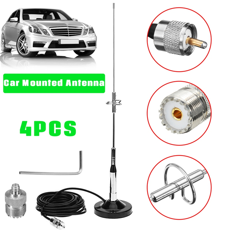 Autoleader Antenna Magnetic Mount Base UHF M Cable + Connector Signal Booster Amplifier Aerials For Car Mobile Radio