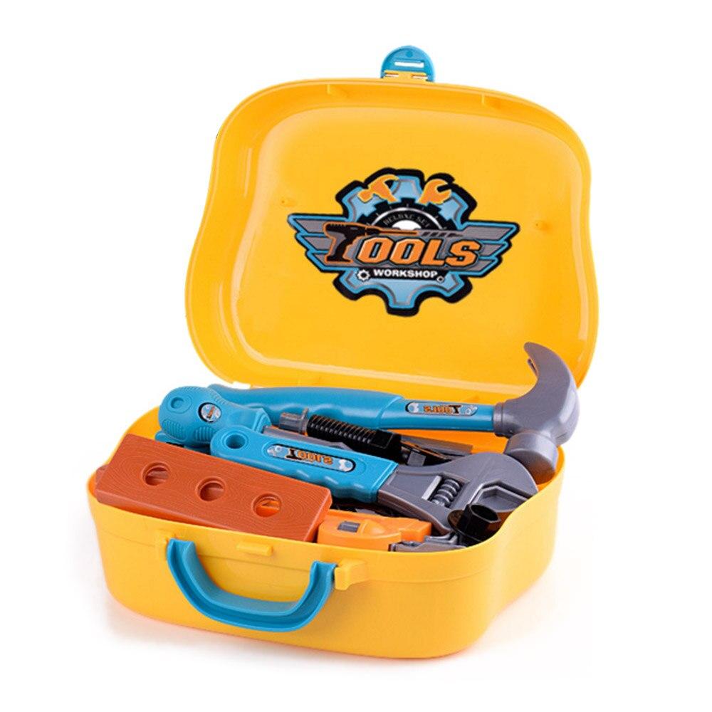 14 Pcs/19 Pcs Children Pretend Play Anti-stress Toys Kids Workbench Repairing Tool Toy Kit