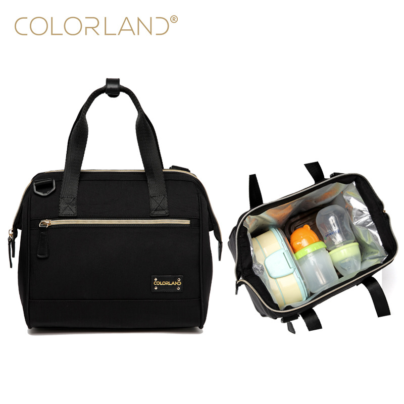 Colorland Mummy Handbag Baby Bottle Bag Breast Milk Preservation Insulation Bags Insulated Lunch Box Thermo Bag Baby Food Warmer image