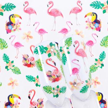 1 arkusz Gradient Bloom Flamingo suwak paznokci naklejki ozdobne naklejki wzory do transferu Watermark tatuaże dekoracje LASTZ659-673 tanie i dobre opinie Full Beauty CN (pochodzenie) 6 3x5 4cm Naklejka naklejka Plastic 1 Sheet Summer Designs New Slider Water Decals Gradient Colorful Flower
