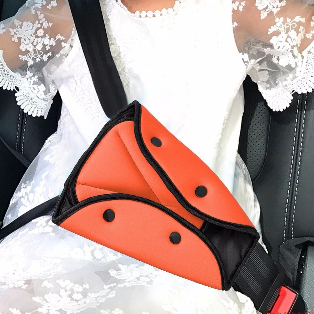 Children Car Safety Belt Cover Adjuster Sturdy Adjustable Harness Strap Adjuster Pad Triangle Kids Baby Safety Seat Belt Clips