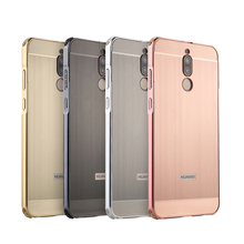 For Huawei Maimang 6 Case for Maimang6 Brushed Back Cover Hard Case with Plating Metal Frame Case for Huawei Maimang 6 5.9