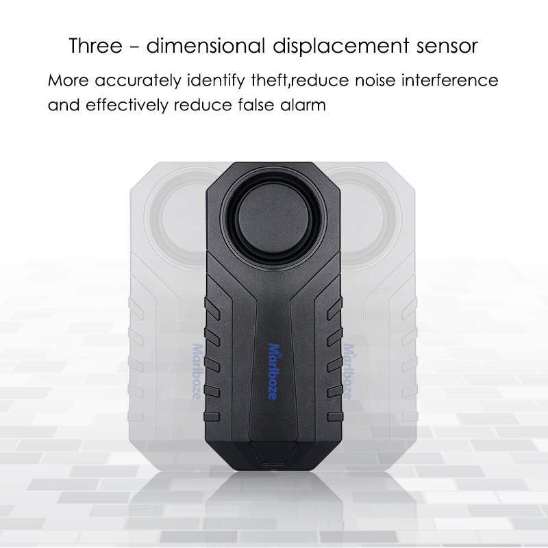 Image 2 - Marlboze Waterproof Remote Control Bike Motorcycle Electric Car Vehicle Security Anti Lost Remind Vibration Warning Alarm Sensor-in Alarm System Kits from Security & Protection
