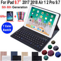 Backlit Keyboard Case for iPad 9.7 2017 2018 5th 6th Generation Case for iPad Air 1 2 Pro 9.7 Cover Bluetooth Keyboard Funda