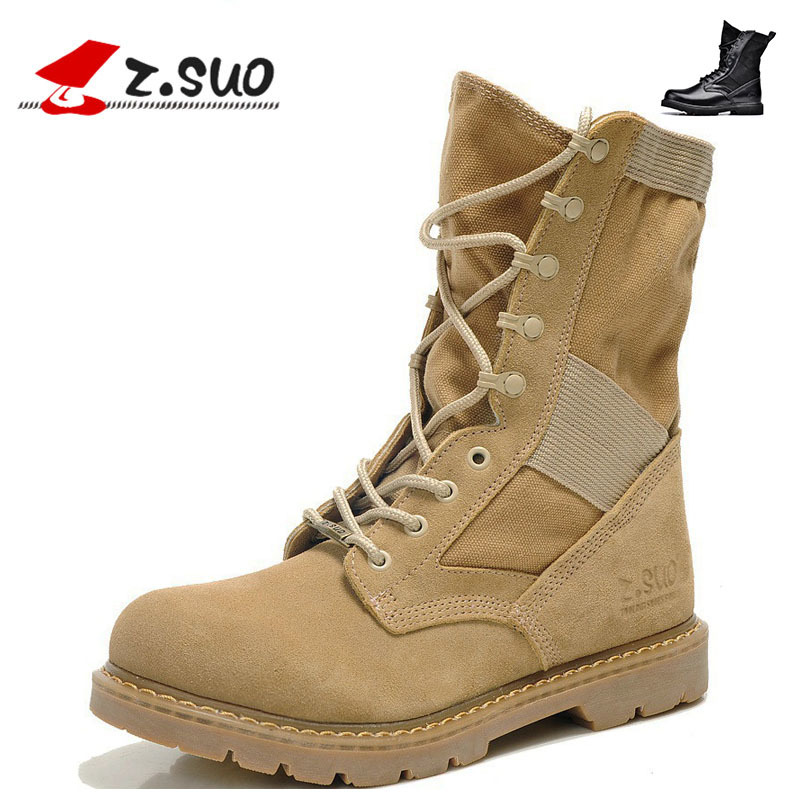 Trend of mens boots commando desert boots, leather tooling of England boots man climbing shoes combat boots