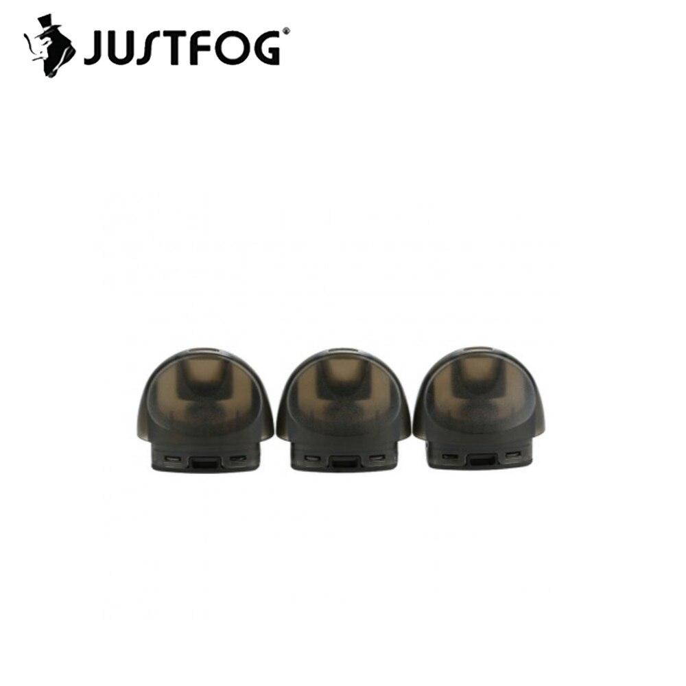 1,7 Original 3 piezas unids JUSTFOG C601 Pod con capacidad de 100% ml y ohm bobina superior diseño de recarga para JUSTFOG C601 Kit e-cig pieza de repuesto
