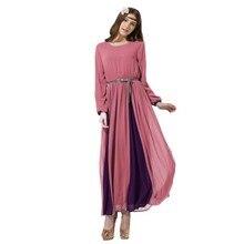 Elegante Frauen Lange Chiffon Kleid Vintage Kaftan Jilbab Islamischen Muslimischen Abaya Cocktail Party Y6