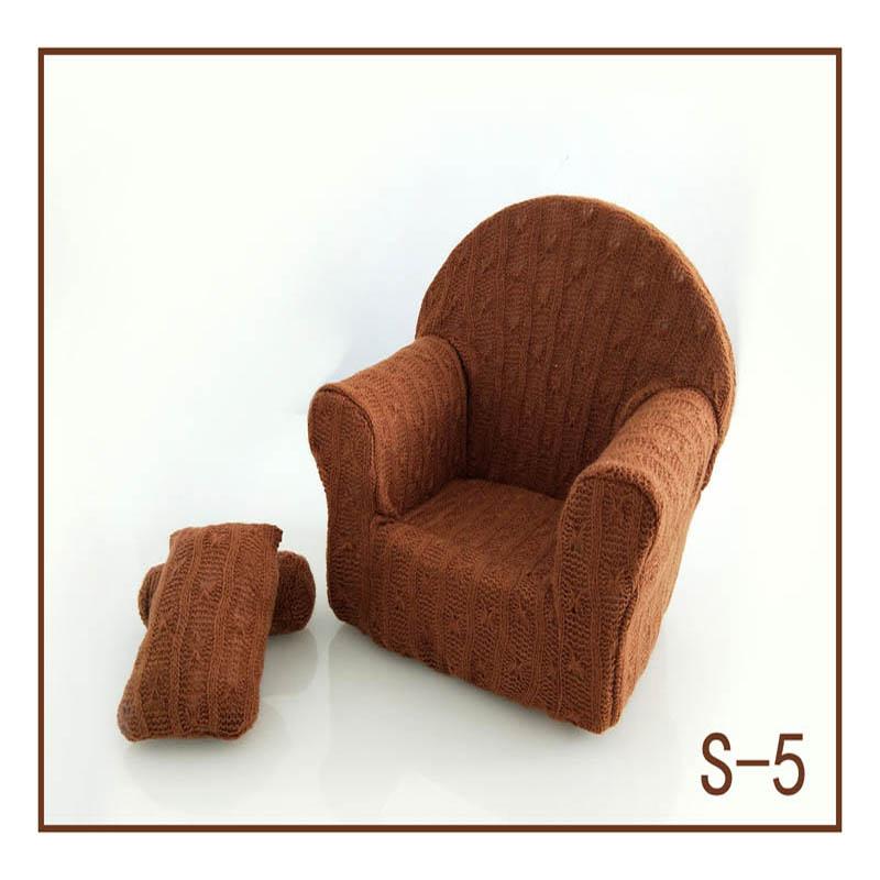 Реквизит для фотосъемки новорожденных, позирующий мини-диван, кресло на руку и 2 подушки, реквизит для фотосессии, студийные аксессуары для детей 0-3 месяцев - Цвет: 19