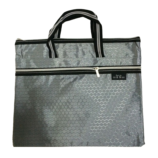 ABDB-Bai Ju Double layer B4 football pattern portable File Bag Briefcase