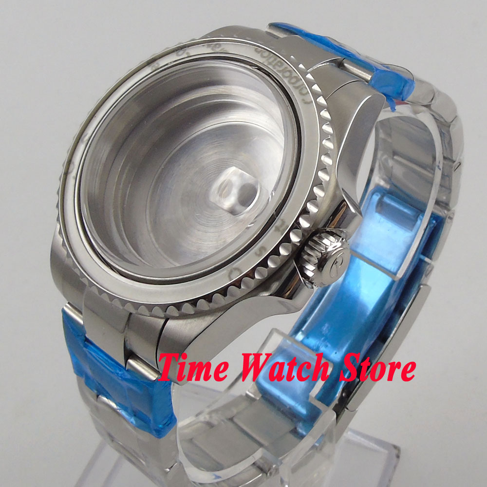 лучшая цена Fit ETA 2824 2836 movement 40mm 316L stainless steel sapphire watch case 116