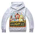 2016 Осень Пять Ночей в Freddys Мальчик одежда Мультфильм Толстовки Дети спорт одежда Детская футболка Пять Ночей в Freddys Балахон