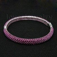 16.00Ct розовый Рубин Браслет SOLID 14 К белого золота, розовый Руби браслет 585 из чистого золота для продажи