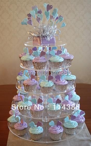how big should a wedding cake stand be 5 tier maypole clear acrylic wedding cupcake stand 15359