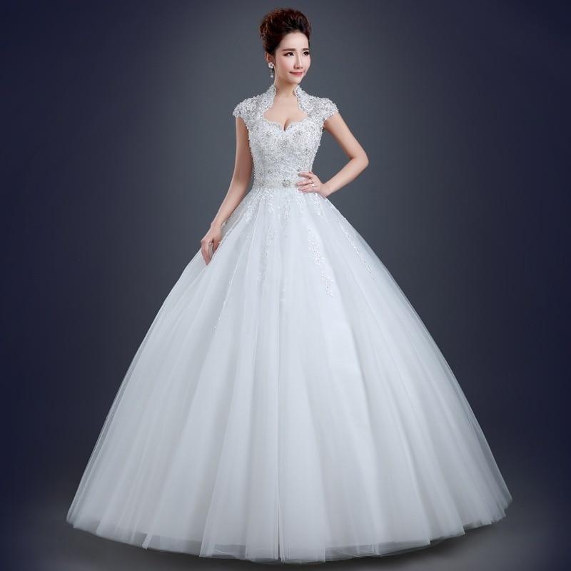 Vestidos De Novia 2019 Muslim Wedding Dress Hijab High Neck Short Sleeve  Lace Applique Crystal Arab Wedding Gown Robe De Mariee 756450b3e833
