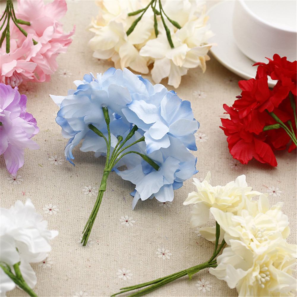 Cheap 12pcslot 45cm silk gradient artificial lily flower bouquet cheap 12pcslot 45cm silk gradient artificial lily flower bouquet for wedding decoration diy wreath scrapbooking craft flower in artificial dried flowers izmirmasajfo